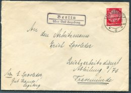 1936 Germany Bad Segeberg Uber Berlin Cover - Travemunde - Briefe U. Dokumente
