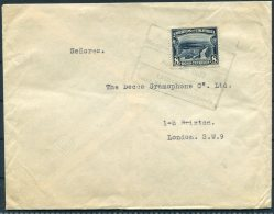 1932 Colombia Bogota Surface Rate Cover - Decca Gramophone Company, Brixton, London - Colombia