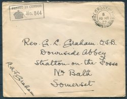 1939 GB Field Post Office FPO Censor Cover - Rev Graham O.S.B. Downside Abbey, Stratton On The Fosse, Somerset. Dunkirk - Storia Postale