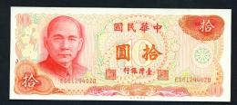 TAIWAN  -  1972  10 Yuan  UNC - Taiwan