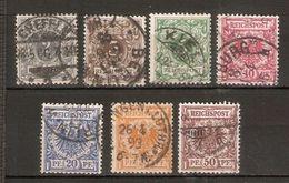 ALEMANIA IMPERIO. 1889-1900. Y&T Nº 44/50 - Alemania