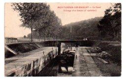 Montureux Les Baulay -le Canal -éclusage D'un Bateau-voir état - Bateaux