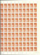 Feuille Complète De 100 Timbres 1f Marianne De Luquet Monobloc Td6 Au Type 1 Variété Bande à Gauche Daté Du 10//08/99 - France