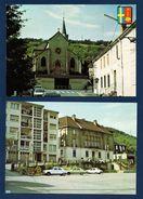 57. Rosselange. Lot De 2 Cartes. Eglise St. Georges. Café Au Bon Coin. L' Hôtel De Ville, Poste. Place Jean Burger. 1987 - France