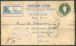 1944 GB Registered Letter Fieldpost RAF Censor FPO 764 - Eastbourne, Sussex - 1902-1951 (Kings)
