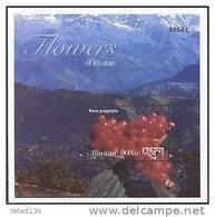 MINT NEVER HINGED SOUVENIR SHEET OF FAUNA & FLORA ; FLOWERS - PARIS POLYPHILIA ( BHUTAN  1376 - Végétaux