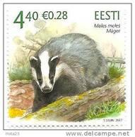 Estonia / Estland Eurasian Badge, Wild Animals MNH 2007 - Estland