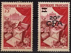 REU 27 - REUNION - CFA N° 319 + FRANCE N° 974 Neufs** Fleurs Et Parfums - Reunion Island (1852-1975)