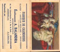 Calandriers, A. Balandra Chalon Sur Saone, Fabriques De Caladriers, 1936     (bon Etat) - Calendriers