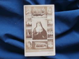 Photo CDV Anonyme - Mosaïque Marguerite Marie Alacoque L326 - Oud (voor 1900)