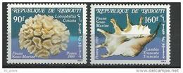 """Djibouti YT 647 & 648 """" Faune Sous-marine """" 1989 Neuf** - Dschibuti (1977-...)"""
