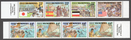 Micronesia 1988 Mi# 83-88** HISTORY OF MICRONESIA, COLONIAL ERA - Micronésie