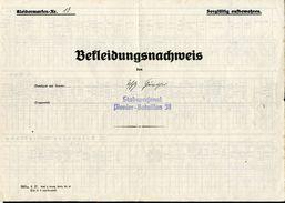 Bekleidungsnachweis, 2. Weltkrieg, WW2, Stabsprsonal Pionier-Bataillon 38, 3 Stoff-Trägeretiketten U.1 Etikette Gummiert - Uniformen
