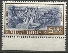 India  - 1976 Bhakra Dam 5r MNH **   SG 737  Sc 684 - Unused Stamps