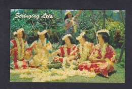 Vente Immediate Hawai  - Stringing Leis - Flower Leis ( Hawaiian Girls Tressage Colliers De Fleurs ) - Etats-Unis