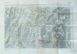 Carte D'Etat Major (service Géographique De L'Armée) - Projection Lambert III Zone Sud 188 - Vizille (Grenoble) 1939 - Topographical Maps