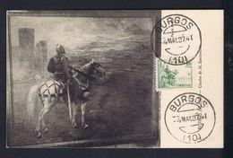 """BURGOS """"El Cid"""" Painting Peinture M.Santamaria 1937 Spain Maximum Cards Mc704 - Maximum Cards"""