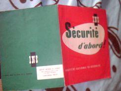 Protege Cahier Publicitaire INS  Securité  Dabord - Buvards, Protège-cahiers Illustrés