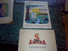 Protege Cahier Publicitaire Moutarde Amora Aurore - Buvards, Protège-cahiers Illustrés