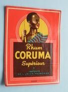 Rhum CORUMA Supérieur Importé De L'Union Française ( Déposé ) ! - Rhum