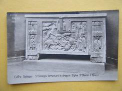 IEPER. L'Eglise Saint Martin. Le Coffre Gothique De Saint Georges Terrassant Le Dragon. - Ieper