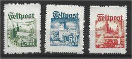 0957r: Feldpost Privatausgaben Spendenvignetten Dänische Legion, Mi. I-III, Ungeprüfter Satz - 1918-1945 1st Republic