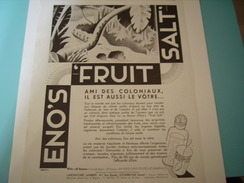 ANCIENNE PUBLICITE LE PRESTIGE D ENO S FRUIT SALT 1931 - Posters