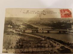 CPA 75 PARIS PANORAMA VERS PASSY PASSERELLE DU METROPOLITAIN 148 - Pariser Métro, Bahnhöfe