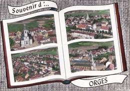 52 ORGES  La DHUY  CPSM SOUVENIR Album Photo LAPIE  4 Vues Du VILLAGE  Maisons EGLISE à Travers CHAMPS - France