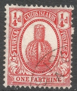 Turks & Caicos Islands. 1909-11 KEVII. ¼d Red Used. SG 116 - Turks And Caicos