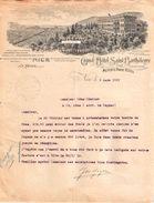 Beau Document Du 03/03/1919 GRAND HOTEL SAINT-BARTHELEMY - MEYER'S PARK HOTEL - Nice 06 - 1900 – 1949