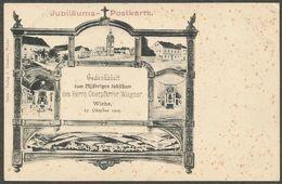 Gedenkblatt Zum 25jährigen Jubiläum Des Herrn Oberpfarrer Wiegner In Wiehe, 27 Oktober 1903. Ungebraucht. - Kyffhaeuser