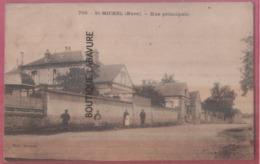 27 - ST MICHEL  (Saint)---Rue Principale---animé - Francia