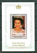 Nevis 60th Birthday Of Her Majesty Queen Elizabeth II - MNH - St.Kitts-et-Nevis ( 1983-...)