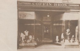 Bath Maine, Store Front Coffin Bros. Clothiers Furnishers, Business, C1900s Vintage Postcard - Stati Uniti