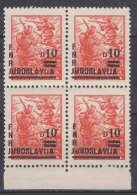 Yugoslavia Republic, 1949 Mi#589, Block Of Four, Mint Never Hinged - 1945-1992 Socialistische Federale Republiek Joegoslavië