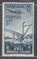 Italy Colonies East Africa 1938 Airmail Mi#32 Mint Hinged - Africa Oriental Italiana