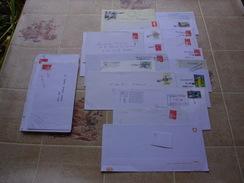 34 ENVELOPPES GRIFFÉES - Poststempel (Briefe)