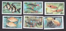 Cambodia, Scott #1903-1908, Mint Hinged, Fish, Issued 1999 - Cambodge