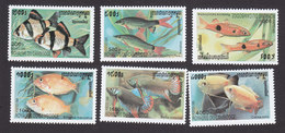 Cambodia, Scott #1903-1908, Mint Hinged, Fish, Issued 1999 - Cambodia