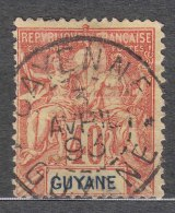French Guiana Guyane 1892 Yvert#39 Used - Usados