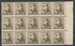 BELGIË - OBP -  1919 - Nr 166 (Blok/Bloc 15 + GOEDE CENTRAGE) - MNH** - 1919-1920 Roi Casqué
