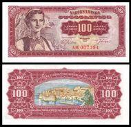 Yugoslavia 100 DINARA 1963 P 73 UNC YOUGOSLAVIE - Yugoslavia