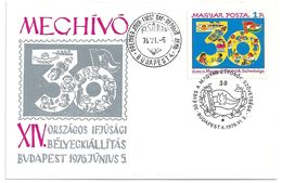 6798 Hungary FDC Child Youth Pioneer Flag Celebration Invitation - Scouting