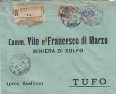Cisternino. 1928. Annullo Guller CISTERNINO (BARI) Su Lettera Raccomandata. Affrancatura Interessante. - 1900-44 Vittorio Emanuele III