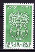 Sénégal N° 214 X Eradication Du Paludisme, Trace De Charnière Sinon TB - Senegal (1960-...)