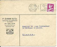187, émission Commémorative Conférence Du Désarmement, Genève, Obl. St-Gallen 26.V.1932 - Suisse