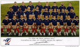 RUGBY   /  EQUIPE DE FRANCE  / GRAND CHELEM 2010     CPM  13.5 X 21   NEUVE - Rugby