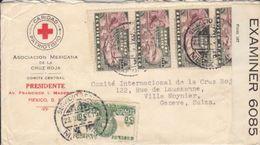 LETTRE CENSUREE POUR LE COMITE DE LA CROIX ROUGE A GENEVE - 1941 - Mexique