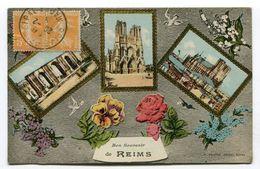 CPA  51 : REIMS  Un Souvenir    A   VOIR   !!!! - Reims